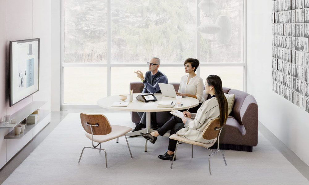 A group in an office setting