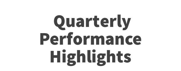 Quarterly Performance Highlights