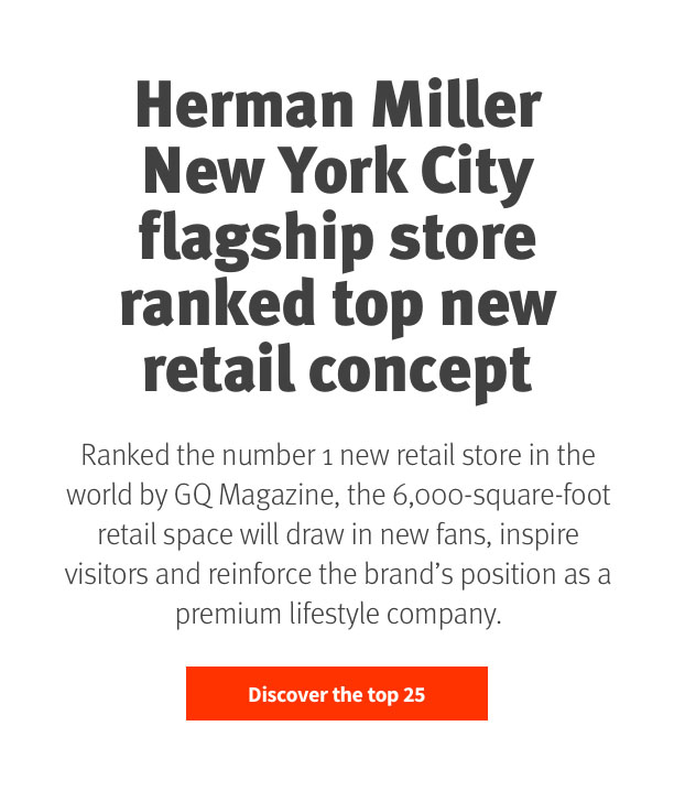 Herman Miller New York City flagship ranked top new retail concept